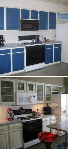 Kitchen: Before & After - painted cabinets