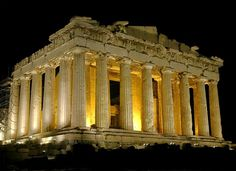 The Parthenon in Athens by Ictinus and Callicrates