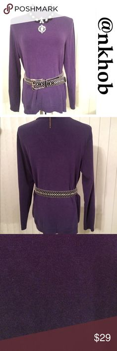 Chico's Turtleneck Sweater Beautiful purple turtleneck sweater from Chico's.  excellent condition.  Long sleeves.  Belt and necklace not included (PB3) Chico's Sweaters Cowl & Turtlenecks