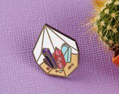Enamel pin crystal – Etsy