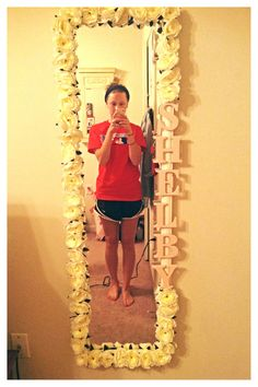 Pinning for the concept: DIY mirror decor.