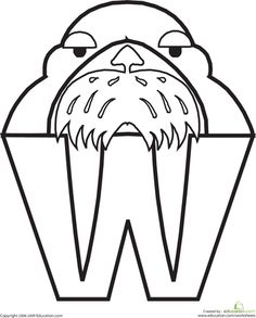 Worksheets: W for Walrus