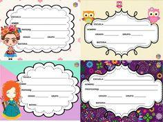 Etiquetas para escribir los datos del alumno en los cuadernos y libros -…