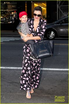 Miranda Kerr Steps Out with Her 'Lil Romeo' Flynn! | Celebrity Babies, Flynn Bloom, Miranda Kerr, Orlando Bloom Photos | Just Jared