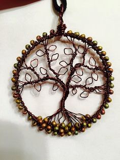 Tree of Life pendant reddish-brown wire and by ArborVitaePendants
