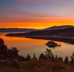 Lake Tahoe's Emerald Bay in California, USA