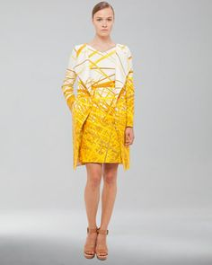 Yellow is my favorite color, and this Reed-Print Double-Face Coat & Dress by Akris at Neiman Marcus, would brighten up any wardrobe!