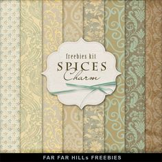 Far Far Hill - Free database of digital illustrations and papers: New Freebies Kit of Backgrounds - Spices Charm