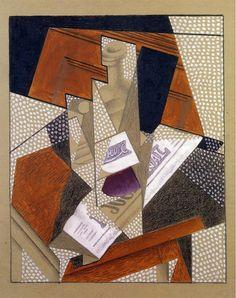 Juan Gris, Bottle on ArtStack #juan-gris #art