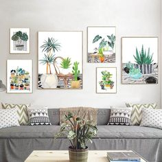 Succulents Potted Plants Cactus Nordic Poster Cuadros Decoracion Wall  Pictures For Living Room Wall Art Canvas