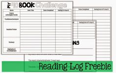 Perfect reading log for the 40 Book Challenge!
