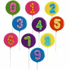 Numbers Hard Candy Lollipops $3.49