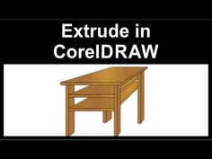 Extrude in CorelDraw Isometric Drawing, Coreldraw, Video Tutorials, 2d, Design Tech, Nice, Outdoor Decor, Illustrations, Youtube