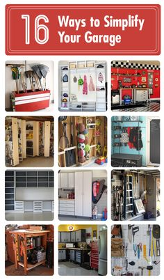 16 clever ways to simplify your garage .For my Husband Bob!!!