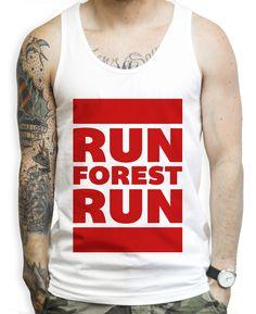 Run Forest Run on a Unisex Tank Top