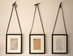 handwritten recipes framed. lovely for kitchen......get some grandparent's older recipes....what a precious keepsake.