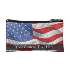 Shop American Flag, Waving in Wind Cosmetic Bag created by cutencomfy. Flags With Stars, American Flag Waving, Small Cosmetic Bags, Military Veterans, Black Nylons, Your Style, Waves, Cosmetics, Purses