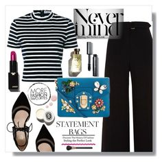"""""""statement bag"""" by masahassan ❤ liked on Polyvore featuring River Island, T By Alexander Wang, Dolce&Gabbana, André Assous, Bobbi Brown Cosmetics, Garance Doré, MAC Cosmetics and Topshop"""