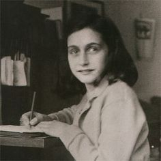 """Anne Frank - """"the diary of a young girl"""" family went into hiding during WWII and was eventually found out and sent to a concentration camp"""