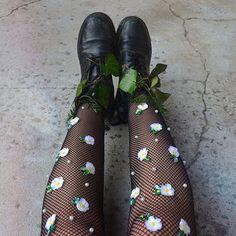 Daisies all the way  #lirikamatoshi #tights #docs #madeinnyc (shop link in bio)