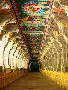 rameshwaram - Inner pathway at South Indian Temple by madhan r (ind{yeah}