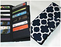 Credit Card Organizer Wallet Gift Card Holder by MintChocolat