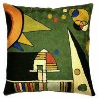 Kandinsky Throw Pillows – Sun Pillow Cover, green