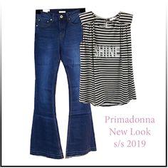 Γυναικεία μόδα by Primadonna : Παντελόνι jean - ριγέ top Casual Looks, Polyvore, Tops, Fashion, Moda, Fashion Styles, Fashion Illustrations, Casual Clothes, Casual Styles