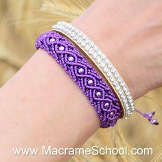 Macrame Wave Bracelet with beads (Tutorial). #macrame  #wave #macramebracelet #tutorial #macrameschool #makrame #armband #pulsera #bracciale #handcrafted #jewelry #knottedjewelry #knotting #knotted #knots