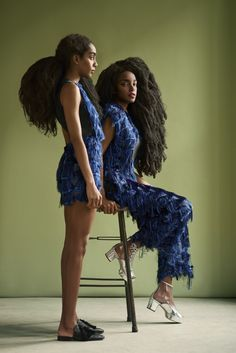 Odalisque Magazine: The Quann Sisters; Cipriana and TK || Afro Rapunzel. Super long Afro hair.                                                                                                                                                                                 More