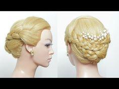 Braids Updo. Easy Wedding Hair Tutorial - YouTube