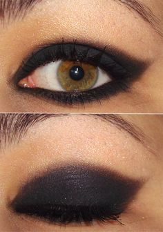 If I could pull it off, I would do my eyes like this everyday.