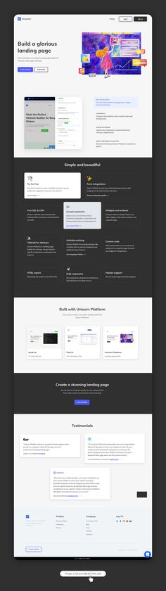 Added some testimonials and examples. Landing Page Generator, Landing Page Builder, Modern Website, Ads