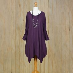 7869494a15d Ladies Lagenlook Plus Size Tunic Dress 14 16 18 by LaneysLagenlook Plus Size  Tunic Dress