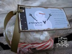{snowman soup} + free printable!!! This makes such a fun neighbor gift, or for anyone!  {www.simplykierste.com}