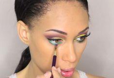 Eye Makeup Tips – How To Apply Eyeliner – Makeup Design Ideas Dramatic Wedding Makeup, Dramatic Eye Makeup, Beautiful Eye Makeup, Colorful Eye Makeup, Dramatic Eyes, Makeup For Green Eyes, Blue Eye Makeup, Colorful Eyeshadow, Smokey Eye Makeup