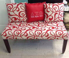 Delta Sigma Theta Upholstered Bench