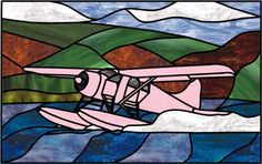"""Beaver Floatplane""  Free pattern download at website in Glasseye format."