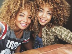 Curly haired beauties