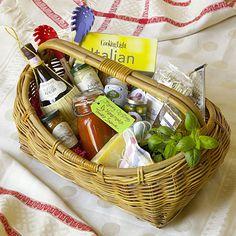 Italian Feast gift basket idea
