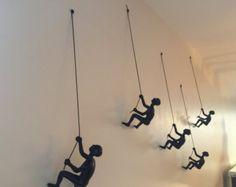 5 Piece Climbing Sculpture Wall Art Gift For Home by MTLDecor