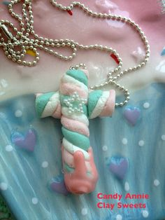 The sweets religion cross silver necklace on Etsy, ¥1,159.42
