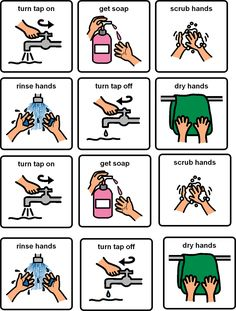 Free Hand Washing Instruction Visual Aid