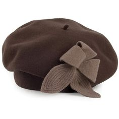 3b25ade0050 Laulhère Hats Lido Merino Wool Beret Brown ( 55) ❤ liked on Polyvore  featuring accessories