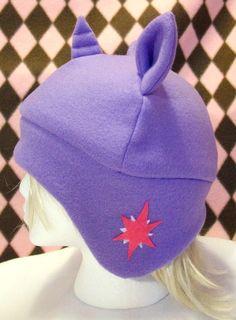 Twilight Sparkle Fleece Hat - My Little Pony Friendship is Magic. $24.00, via Etsy.