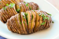 Slimming Eats Garlic Hasselback Potatoes - gluten free, dairy free, vegetarian, paleo, Whole30, Slimming World and Weight Watchers friendly