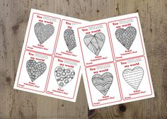 You Color My World Valentine Intricate Coloring Page