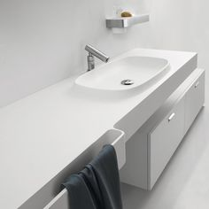 Integral Sink Countertop from Agape - new Desk is an Exmar countertop