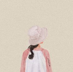 Tumblr Girl Drawing, Flower Art Drawing, Anime Muslim, Digital Art Girl, Cute Cartoon Wallpapers, Korean Art, Anime Art Girl, Cute Illustration, Cute Drawings