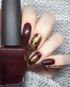 Fall Leaf Nail Art Designs - Fall leaves on nails right now are super-trendy. We searching for 150 best examples. Be ready to get inspiration! Matte Nails, Glitter Nails, Acrylic Nails, Long Gel Nails, Short Nails, Nail Effects, Beautiful Nail Designs, Perfect Nails, Coffin Nails